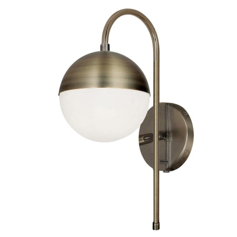 1Lt Halogen Wall Sconce, AB