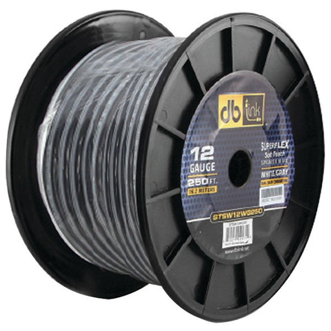 DB Link STSW12WG250 Superflex Series White/Gray Speaker Wire (12 Gauge, 250ft) - Peazz.com