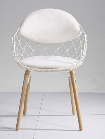 Mochi Furniture Contemporary Metal Wire Accent Armchair ...