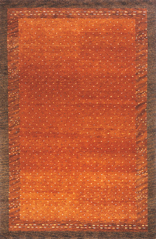 Momeni DEGABDG-01PAP5380 Indian Hand Knotted Desert Gabbeh Collection Paprika Finish Rugs