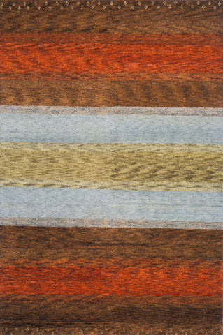 Momeni DEGABDG-02MTI5380 Indian Hand Knotted Desert Gabbeh Collection Multi Finish Rugs