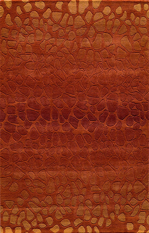 Momeni DELHIDL-33PAP80A0 Indian Hand Tufted Delhi Collection Paprika Finish Rugs