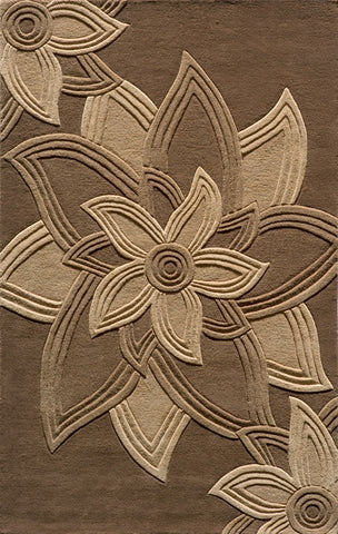 Momeni DELHIDL-40MOC5080 Indian Hand Tufted Delhi Collection Mocha Finish Rugs