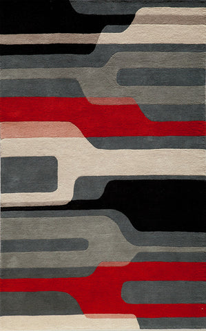 Momeni DELHIDL-43BLK5080 Indian Hand Tufted Delhi Collection Black Finish Rugs