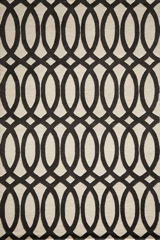 Momeni DELHIDL-57BLK3656 Indian Hand Tufted Delhi Collection Black Finish Rugs