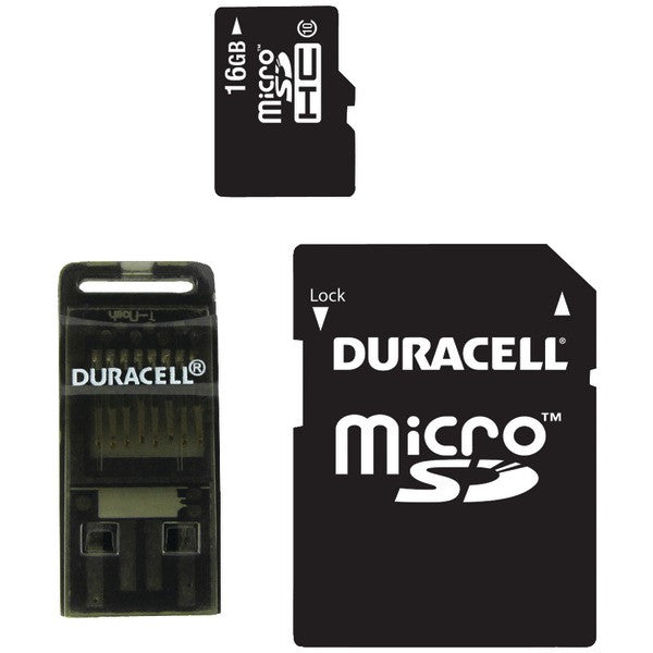 Duracell DU-3in1C1016G-R Class 10 microSD Card with SD & USB Adapters (16GB) PTR-DEMDU3IN1C1016GR
