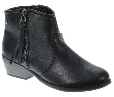 Dorado-11 Western Style Stacked Heel Zip Up Boot - Peazz.com