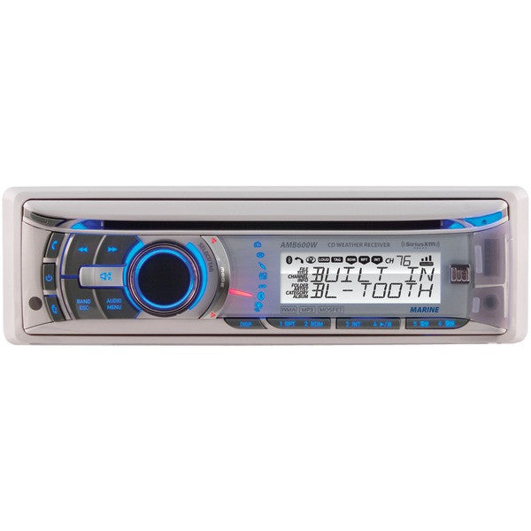 Namsung AMB600W Marine CD/MP3 Player - 240 W RMS - iPod/iPhone Compatible - Single DIN - Detachable Faceplate - CD-R - CD-DA, MP3, WMA - AM, FM - 18, 12 x FM, AM Preset - SD, SDHC - Bluetooth - USB - Auxiliary Input