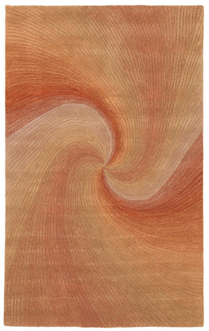 Trans-Ocean Imports DUN46910227 Dunes Collection Rust Finish Indoor Rug - Peazz.com