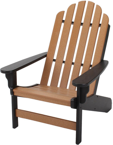 Pawleys Island Hammocks DWAC1BLKCD Essentials Adirondack Chair-Black/Cedar (W 30.5 x H 39 in.) - Peazz.com - 1