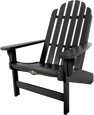 Pawleys Island Hammocks DWAC1BLK Essentials Adirondack Chair-Black (W 30.5 x H 39 in.) - Peazz.com