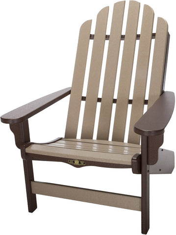 Pawleys Island Hammocks DWAC1CHOWW Essentials Adirondack Chair-Chocolate/Weatherwood (W 30.5 x H 39 in.) - Peazz.com - 1