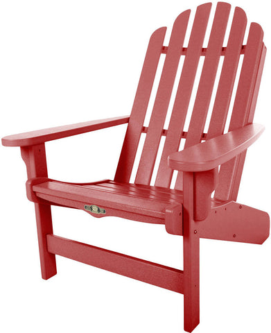 Pawleys Island Hammocks DWAC1RD Essentials Adirondack Chair-Red (W 30.5 x H 39 in.) - Peazz.com