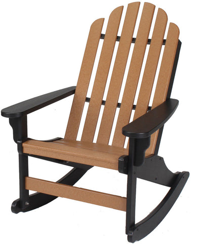 Pawleys Island Hammocks DWAR1BLKCD Essential Adirondack Rocker-Black/Cedar (W 30.5 x H 39 in.) - Peazz.com