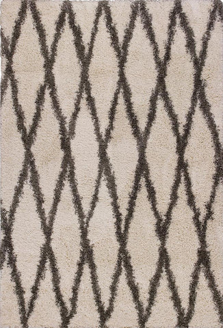"KAS Rugs Delano 1165 Ivory Grey Visions Machine-Woven 100% Polypropelene 3'3"" x 5'3"""