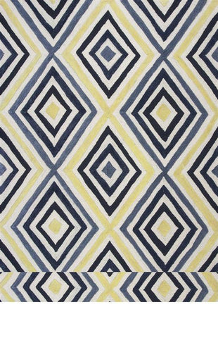 KAS Rugs Donny Osmond Home Escape 7908 Ivory/Blue Dimensions Hand-Made 100% Polypropelene 5' x 7'