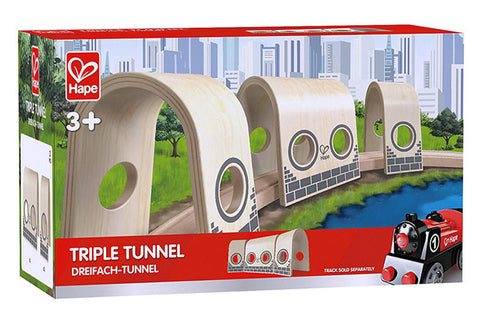 Hape Plywood Tunnel set E3711A Tunnel Set