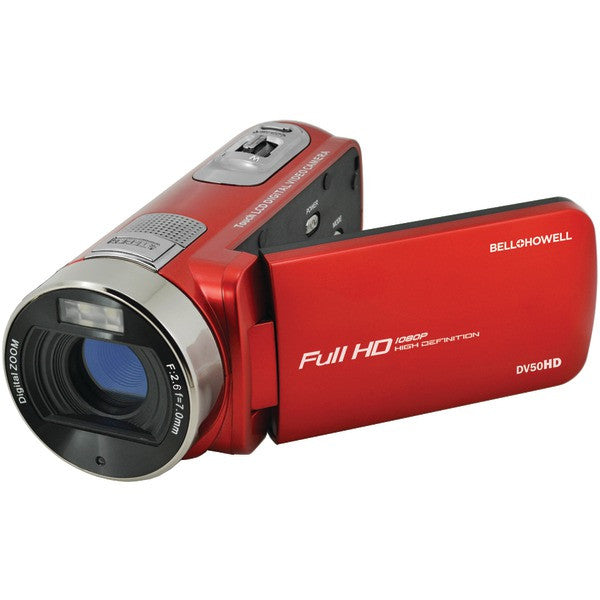 Bell+howell Dv50hd-r 20.0-megapixel 1080p Dv50hd Fun-flix Camcorder (red)