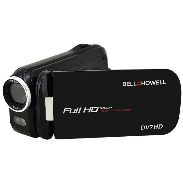 Bell+howell Dv7hd-bk 16.0-megapixel Slice Ii Dv7hd Ultraslim 1080p Hd Camcorder (black)