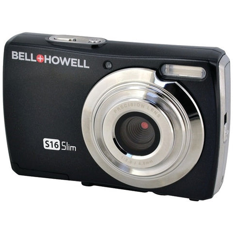 Bell+Howell S16-BK 16.0-Megapixel S16 Slim Digital Camera (Black) - Peazz.com