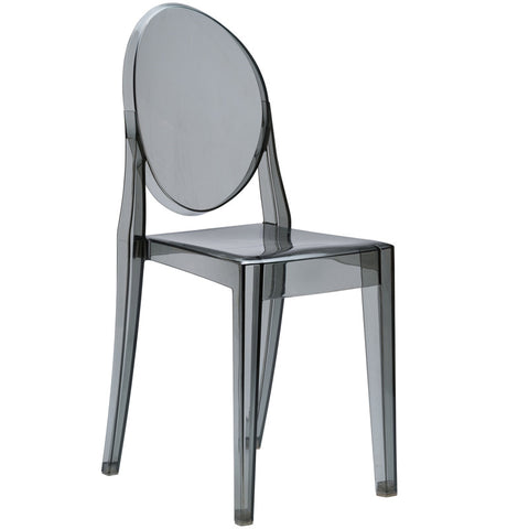EdgeMod EM-102-SMK Burton Side Chair In Smoke