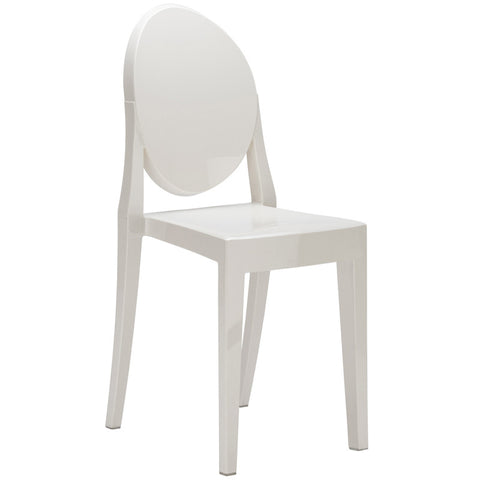 EdgeMod EM-102-WHI Burton Side Chair In White
