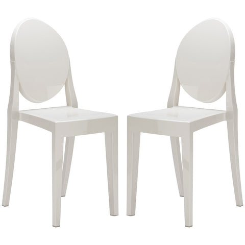 EdgeMod EM-102-WHI-X2 Burton Side Chair In White (Set of 2)