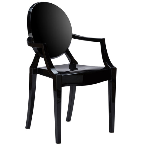 EdgeMod EM-103-BLK Burton Arm Chair In Black