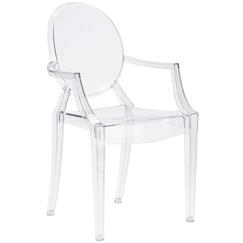 EdgeMod EM-103-CLR Burton Arm Chair In Clear