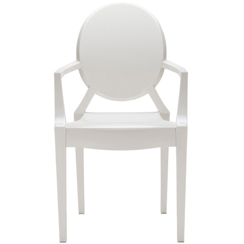 EdgeMod EM-103-WHI Burton Arm Chair In White