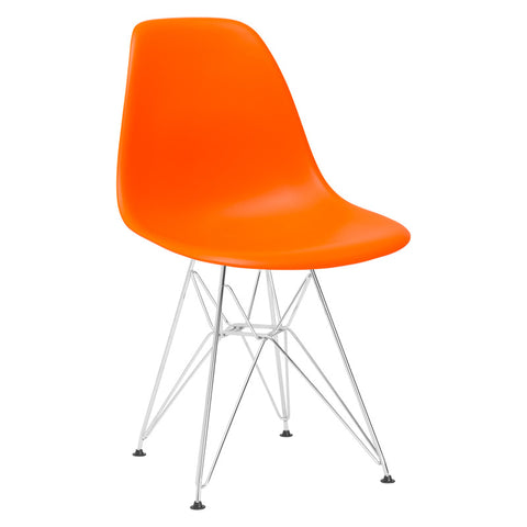 EdgeMod EM-104-CRM-ORA Padget Side Chair in Orange