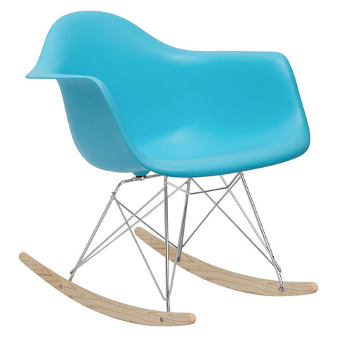 EdgeMod EM-121-AQU Rocker Lounge Chair in Aqua