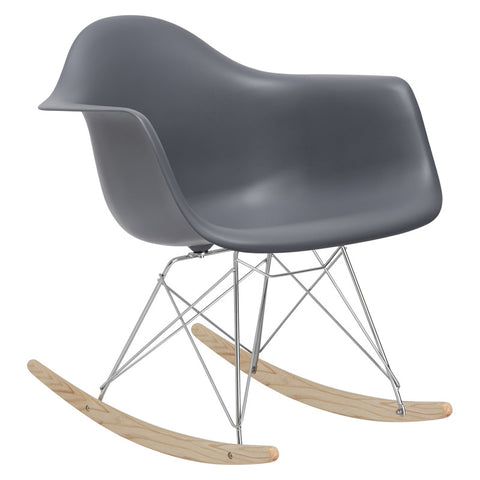 EdgeMod EM-121-GRY Rocker Lounge Chair in Grey