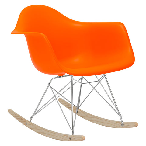 EdgeMod EM-121-ORA Rocker Lounge Chair in Orange