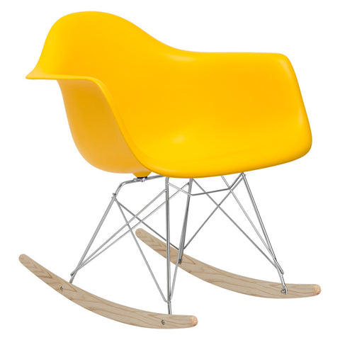 EdgeMod EM-121-YEL Rocker Lounge Chair in Yellow