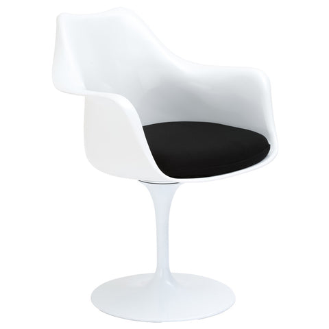 EdgeMod EM-152-BLK Daisy Arm Chair in Black
