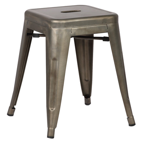 "EdgeMod EM-195-BRZ-X4 Trattoria 18"" Stool in Bronze (Set of 4)"