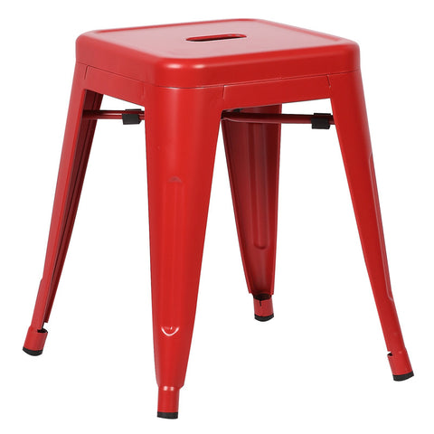 "EdgeMod EM-195-RED-X4 Trattoria 18"" Stool in Red (Set of 4)"