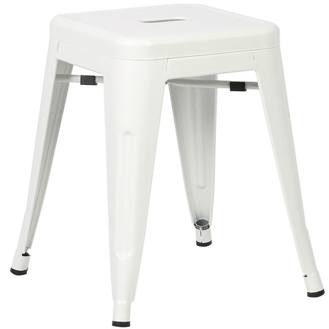"EdgeMod EM-195-WHI-X4 Trattoria 18"" Stool in White (Set of 4)"
