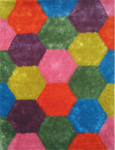 LA Rug ES-24-39X58 Exotic Collection Multi-Color - Peazz.com