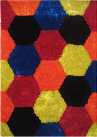 LA Rug ES-25-39X58 Exotic Collection Multi-Color - Peazz.com