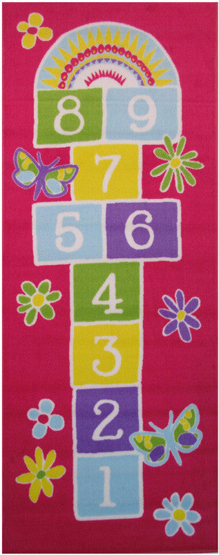 Fun Rugs FT-50 3078 Fun Time-NEW Collection Garden Hopscotch Multi-Color - 30 x 78 in.