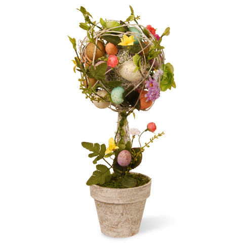 "National Tree GAE30-17TEF Garden Accents 17"" Easter Topiary with Eggs, Flowers & Twigs"
