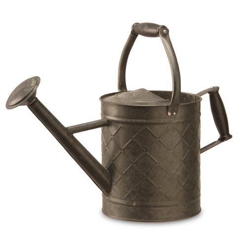 "National Tree GAWC30-12AB Garden Accents 12"" Metal Watering Can - Antique Black"