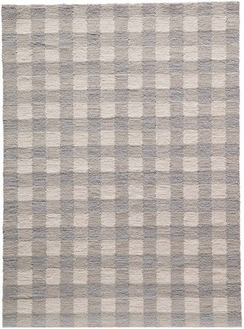 Momeni GEO00GEO31GRY5070 Chinese Hand Hook Geo Collection Grey Finish Rugs