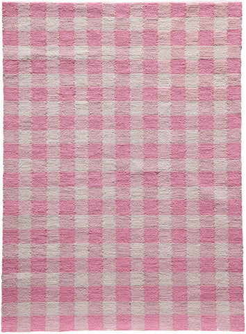 Momeni GEO00GEO31PNK5070 Chinese Hand Hook Geo Collection Pink Finish Rugs