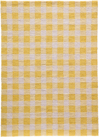 Momeni GEO00GEO31YEL5070 Chinese Hand Hook Geo Collection Yellow Finish Rugs