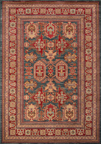 Momeni GHAZNGZ-01BLU93C6 Turkish Machine Made Ghazni Collection Blue Finish Rugs
