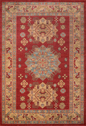 Momeni GHAZNGZ-03RED93C6 Turkish Machine Made Ghazni Collection Red Finish Rugs