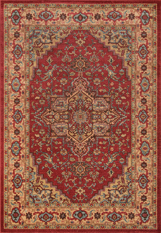 Momeni GHAZNGZ-04RED93C6 Turkish Machine Made Ghazni Collection Red Finish Rugs